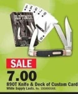 89OT Knife & Deck of Custom Cards
