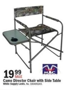 Camo Director Chair w/ Side Table