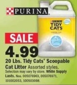 Purina Tidy Cats 20-lbs. Scoopable Cat Litter