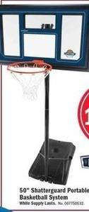 "50"" Shatterguard Portable Basketball System"