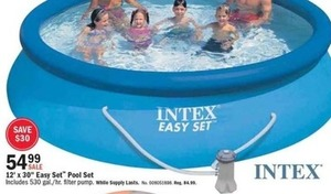 "Intex 12' x 30"" Easy Set Pool Set"