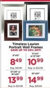 "Timeless Lauren Portrait Wall Frames 11x14"" or 12x16"""