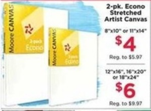 2pk Econo Stretched Artist Canvas