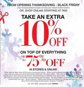 Extra 10% Off Everything + Up to 75% Off, Nov 23 - 24