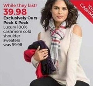 Luxury 100% Cashmere Cold Shoulder Sweaters