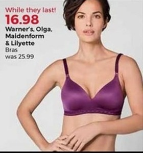 Warner's, Olga, Maidenform & Lilyette Bras