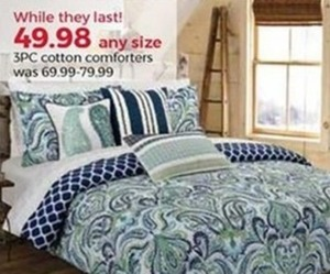 Any Size 3pc. Cotton Comforters