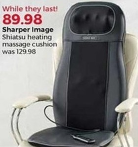 Sharper Image Shiatsu Heating Massage Cushion