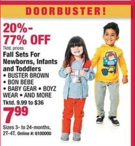 Newborn, Infants & Toddler Fall Sets