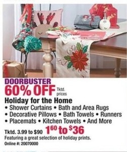 Holiday for the Home Items
