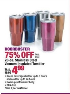 20oz Stainless Steel Vacuum Insulated Tumbler