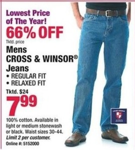 Mens Cross & Windsor Jeans