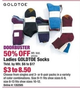Ladies Goldtoe Socks
