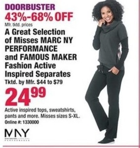 Marc NY Performance & Famous Maker Women's Active Separates