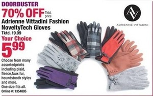 Adrienne Vittadini Fashion Novelty Tech Gloves