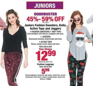 Juniors' Fashion Sweaters, Knits, Tops & Joggers