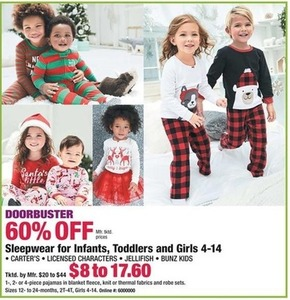 Sleepwear for Infants, Toddlers, and Girls 4 - 14
