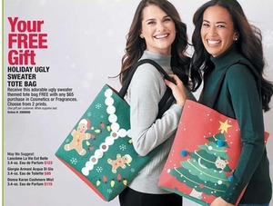 Holiday Ugly Sweater Tote Bag w/ Any Cosmetics or Fragrances Purchase