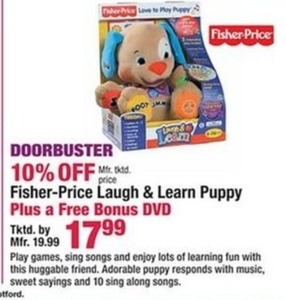 Fisher-Price Laugh and Learn Puppy + Free Bonus DVD