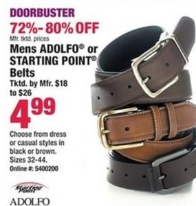 Mens Adolfo or Starting Point Belts