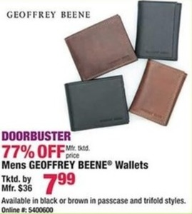 Mens Geoffrey Beene Wallets