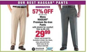 Men's Haggar Premium No-Iron Pants