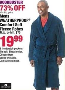 Mens Weatherproof Comfort Soft Fleece Robes
