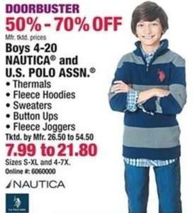 Boys 4-20 Nautica and U.S. Polo Ass.