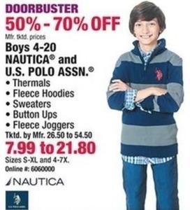 Boys 4-20 Nautica and U.S. Polo Ass.