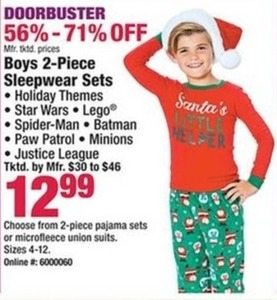 Boys 2-Piece Sleepwear Sets
