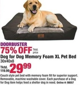 Dog for Dog Memory Foam XL Pet Bed