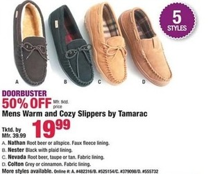Mens Warm and Cozy Slippers by Tamarac