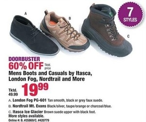 Mens Boots and Casuals by Itasca London Fog, Nordtrail and More