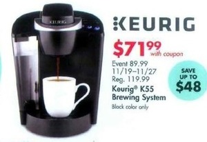 Keurig K55 Brewing System w/Coupon
