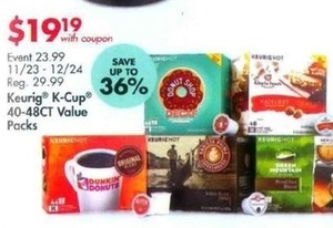 Keurig K-Cup 40-48 ct. Value Packs With Coupon