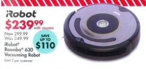 iRobot Roomba 630 Vacuuming Robot w/ Coupon