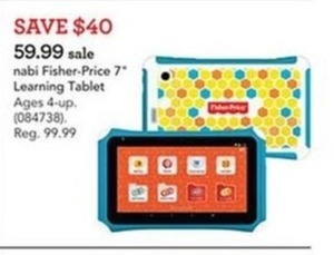 "Nabi Fisher Price 7"" Learning Tablet"