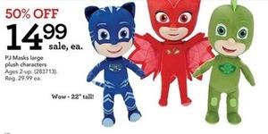 PJ Masks Large Plush Characters