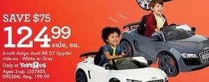 6 Volt Avigo Audi R8 GT Spyder