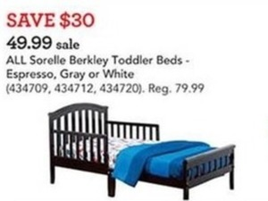Sorelle Berkley Toddler Beds