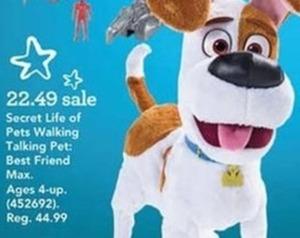 The Secret Life of Pets Walking Talking Pet Figure - Best Friend Max