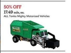 All Tonka Mighty Motorized Vehicles