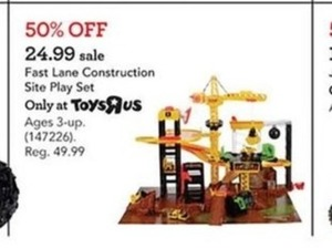Fast lane Construction Site Play Set