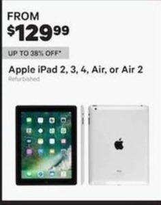 Apple iPad 2, 3, 4, Air, or Air 2