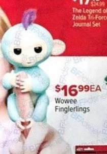 Fingerlings: Interactive Baby Monkey - Finn (Black with Blue Hair) for Collectibles