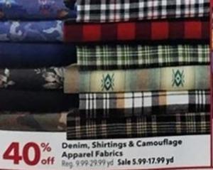 Denim, Shirtings & Camouflage Apparel Fabrics