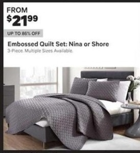 Embossed Quilt Set