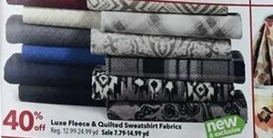 Luxe Fleece & Quilted Sweatshirt Fabrics