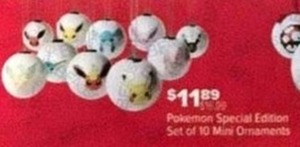 Pokemon Special Edition Set Of 10 Mini Ormaments
