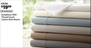 Symphony 1200 TC Cotton-Rich Sheets